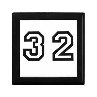 Number Thirty Two Keepsake Box