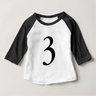 Number three 3 birthday age tshirt