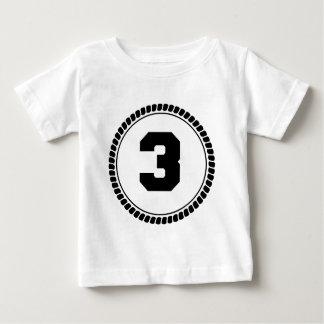 Number Three Circle Baby T-Shirt