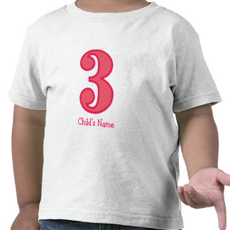 number three girl, Child's Name T-shirt