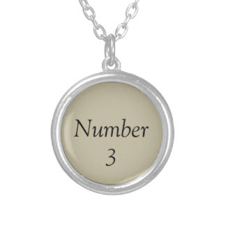 Number Three Necklace