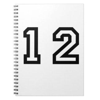 Number Twelve Spiral Note Books