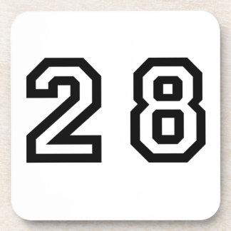 Number Twenty Eight Beverage Coasters