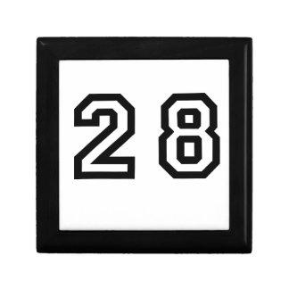 Number Twenty Eight Jewelry Box