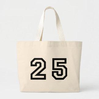 Number Twenty Five Large Tote Bag