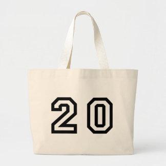Number Twenty Large Tote Bag