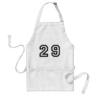 Number Twenty Nine Adult Apron