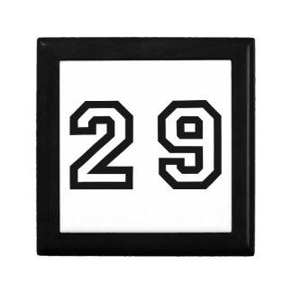 Number Twenty Nine Keepsake Box