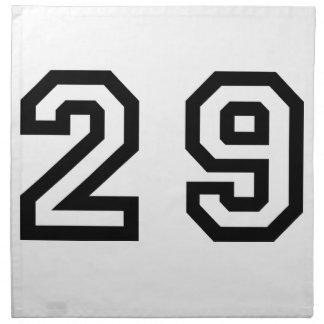 Number Twenty Nine Napkin