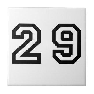 Number Twenty Nine Small Square Tile