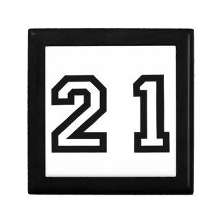 Number Twenty One Gift Box
