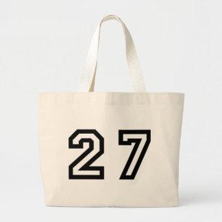 Number Twenty Seven Large Tote Bag
