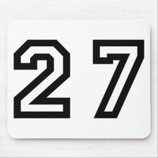 Number Twenty Seven Mouse Pad