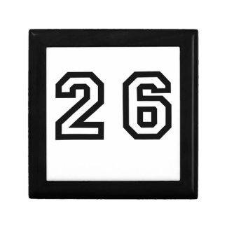 Number Twenty Six Keepsake Box