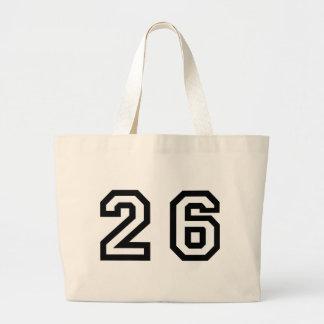 Number Twenty Six Large Tote Bag