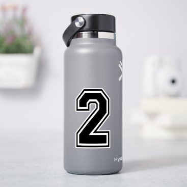 Number Two 2 Sport Font Sticker