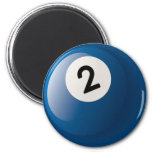 NUMBER TWO BILLIARDS BALL FRIDGE MAGNETS