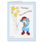 Number two Birthday Boy Greeting Card