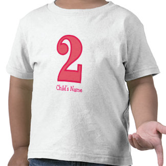 number two girl, Child's Name Shirts