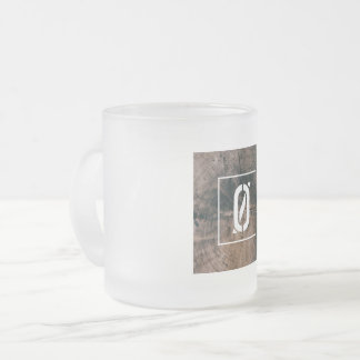 """Numbered """"0"""" Frosted Mug"""