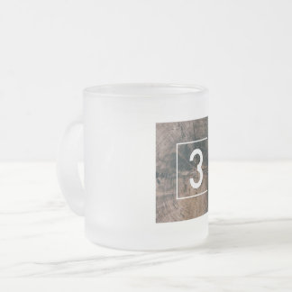 "Numbered ""3"" Frosted Mug"
