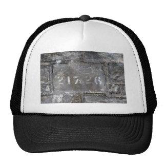 Numbered brick trucker hat