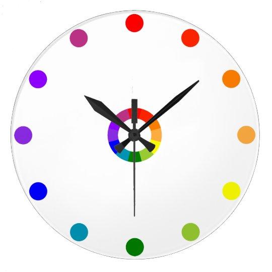 Numberless RYB Color Wheel Clock