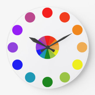 Numberless RYB Color Wheel Clock-4 Large Clock