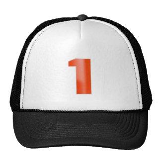NumberONE  Decorative Artistic RED Trucker Hat