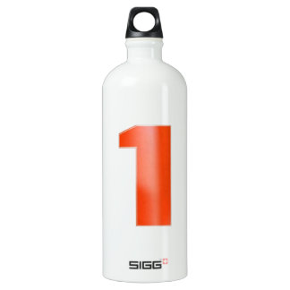 NumberONE  Decorative Artistic RED Water Bottle