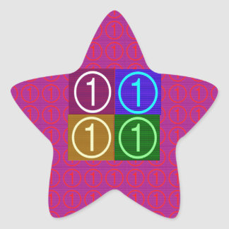 NumberONE FOUR ROUNDS Star Stickers
