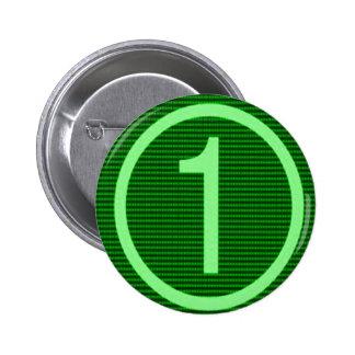 NumberONE Green Marathon Pinback Button