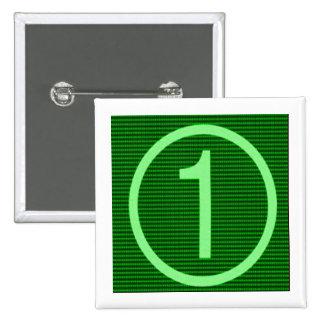 NumberONE Green Marathon Button