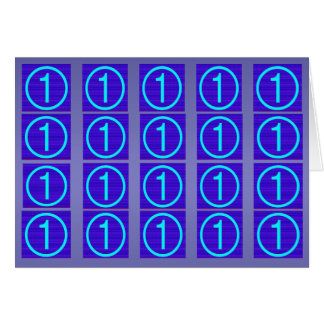 NumberONE Sparkle Blue - Buy Blank or Add own Text Cards