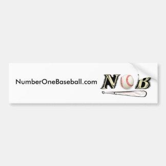 NumberOneBaseball.com Bumper Sticker