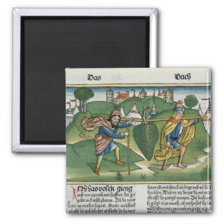 Numbers 13 23 The Grapes of Eschol, from the 'Nure 2 Inch Square Magnet