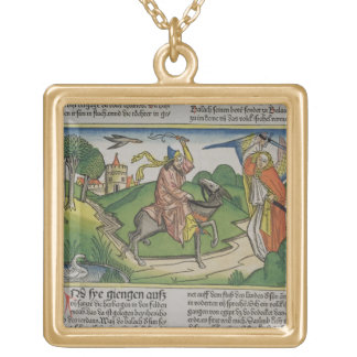 Numbers 22 20-35 Balaam's talking ass, from the 'N Gold Plated Necklace