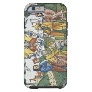 Numbers 27 18-23 Moses lays his hand upon Joshua, Tough iPhone 6 Case