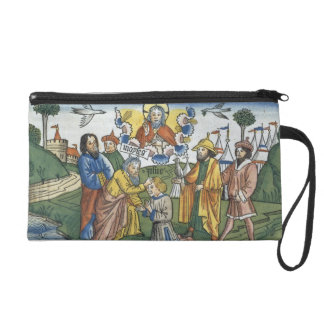 Numbers 27 18-23 Moses lays his hand upon Joshua, Wristlet Purse