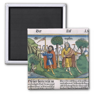 Numbers 2 The camp assignments of the Israelites, 2 Inch Square Magnet