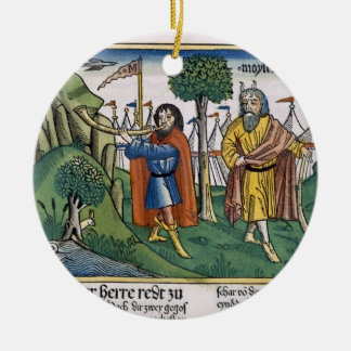 Numbers 2 The camp assignments of the Israelites, Double-Sided Ceramic Round Christmas Ornament