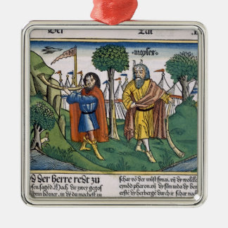 Numbers 2 The camp assignments of the Israelites, Square Metal Christmas Ornament