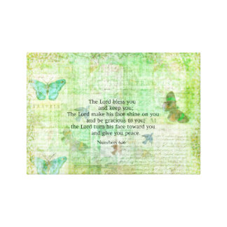 Numbers 6:24-26 Bible Verse Blessing with art Canvas Print