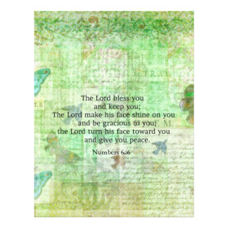 Numbers 6:24-26 Bible Verse Blessing with art Custom Letterhead