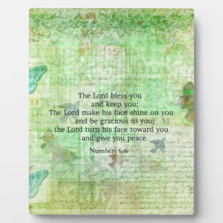 Numbers 6:24-26 Bible Verse Blessing with art Plaque