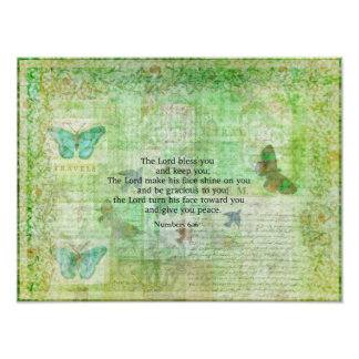 Numbers 6:24-26 Bible Verse Blessing with art Poster