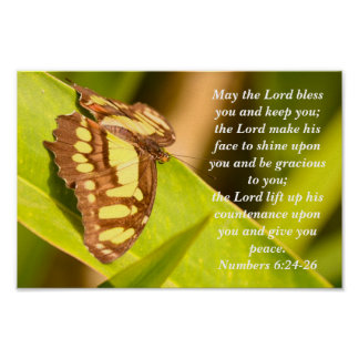 Numbers 6 24-26 Blessing poster