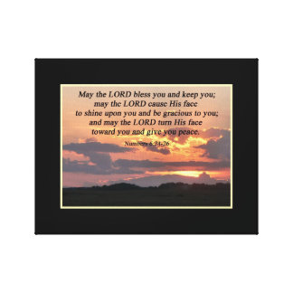 Numbers 6:24-26 Christian Poster Canvas Print