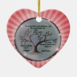 Numbers 6:24-26 Lord Bless You and Keep You Peace Double-Sided Heart Ceramic Christmas Ornament