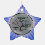 Numbers 6:24-26 Lord Bless You and Keep You Peace Double-Sided Star Ceramic Christmas Ornament